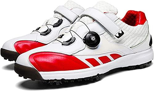 WUDAXIAN Herren Golfschuhe, rutschfeste wasserdichte Golfschuhe für Herren, Golf Sport Sneakers mit BOA Lace System