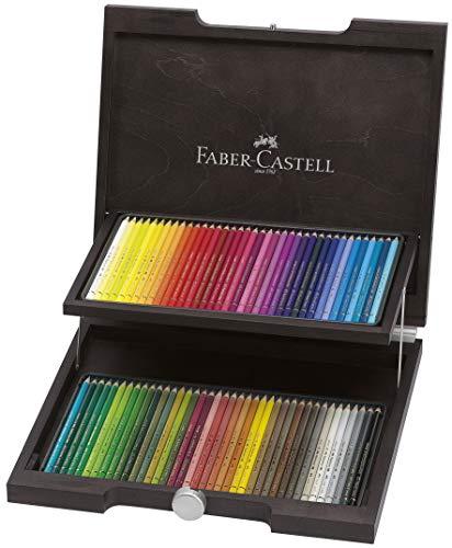 Faber-Castell 110072 - Buntstifte Polychromos, im 72er Holzkoffer, verschiedene Farben