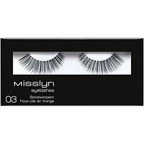 Misslyn Eyelashes 03, Falsche Wimpern, künstliche Wimpern, schwarz, 1 Paar