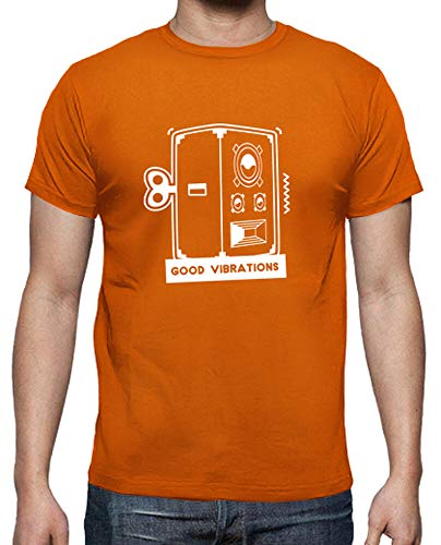 tostadora - T-Shirt Gute Schwingungen - Manner Orange L
