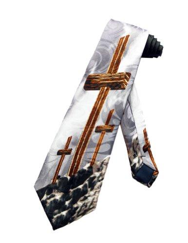 Steven Harris Cravate crucifix de Jesus Christ - Noir - taille unique