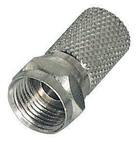 Unbekannt 25 x F-Stecker 8,2mm für 110-130dB Kabel 4-Fach geschirmt 20 F-Stecker