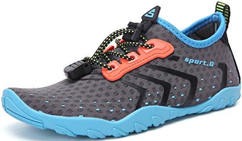 SAGUARO Zapatos de Agua para Niños Niñas Zapatos de Playa Escarpines para Deportes Acuático Natación Buceo Piscina Antideslizante Transpirable, 021 Azul, 30 EU