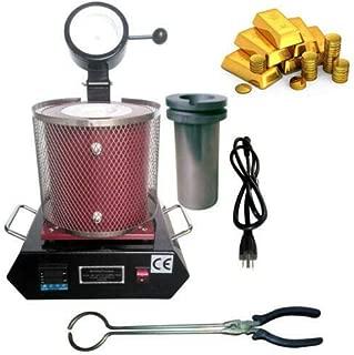 Electric Melting Furnace Gold Silver Copper Smelter Scrap Melt 1150℃ 110V 2KG