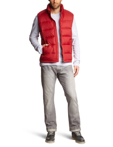 Tommy Hilfiger - Chaleco - Sin Mangas - para Hombre Rot (622 Rio Red) XXL/58