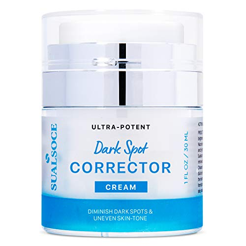 Sualsoce Dark Spot Corrector Cream for Face, Body, Bikini Area, and Intimate Parts, Containing 4-Butylresorcinol, Arbutin and Nicotinamide, All Skin Types 1 fl oz
