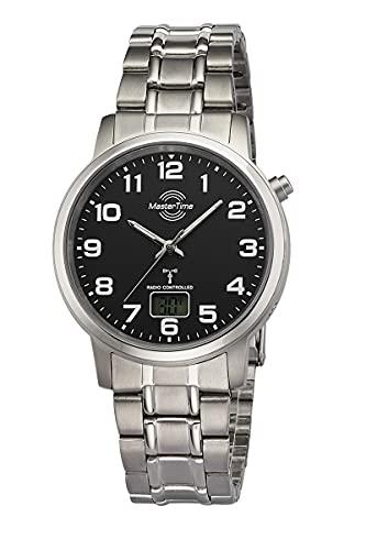 Master Time Reloj analógico digital para hombre de cuarzo con correa de titanio MTGT-10757-22M