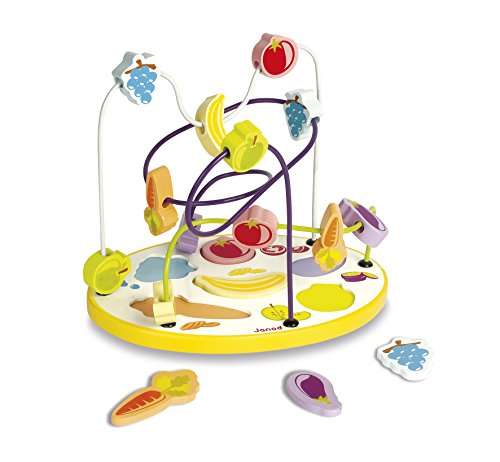Janod - J08091 - Looping Puzzle Fruits Et Légumes 6 pcs