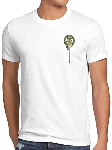style3 Mano del Rey Camiseta para Hombre T-Shirt Tyrion Lannister Baratheon, Talla:5XL, Color:Blanco