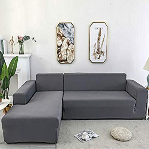 Zhongdalian Sofabezug,L-förmiges Ecksofa mit elastischem elastische Stretch Sofabezug(L-förmiges Ecksofa sollte Zwei kaufen)