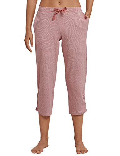 Schiesser Damen Mix & Relax Jerseyhose 3/4 lang Schlafanzughose, Rot (Terracotta), 40