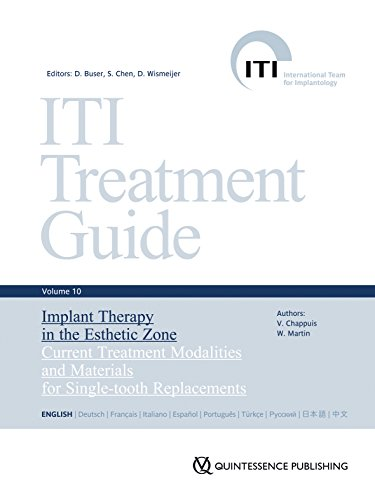 ITI Treatment Guide, Volume 10, Implant Therapy in the Esthetic Zone, Current Treatment Modalities and Materials for Single-tooth Replacements