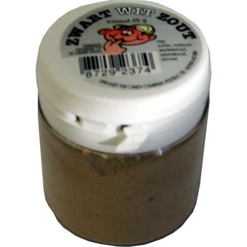 Original niederländisches Salmiakpulver salzig 25g (Zwart Wit Zout)