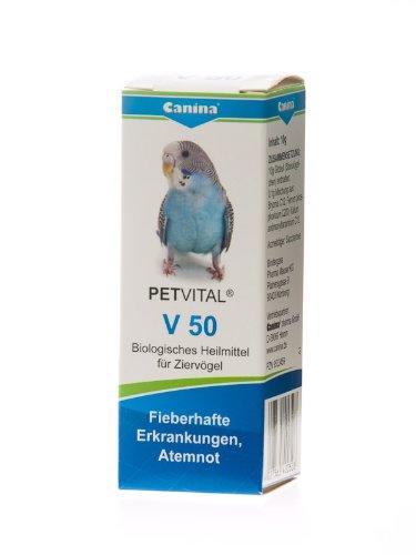Canina 40050 8 Petvital V 50 10 g Globuli für Vögel