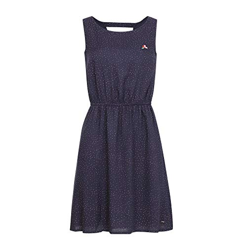 TOM TAILOR Denim Damen Pünktchen Kleid, 21352-navy small dot, S