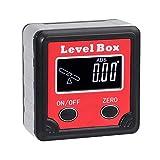 Inclinometro Digital Portatil Nivel Angulo Magnetico Transportador de Angulos Portaangulos Inclinómetro Biselado 0~360˚ Pantalla LCD con Luz de Fondo Baterias