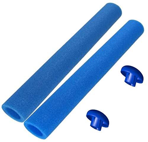 16x Trampolin Schaumstoff blau 82 cm für 8 Stangen, incl. Endkappen