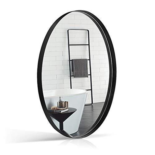 ANDY STAR Oval Wall Mirror, 24x36 Inch Black Bathroom Wall Mounted Mirror -