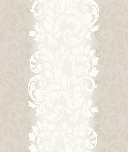 Papel de Parede, Arabesco Degradê com Relevo, Cinza, 1000x52 cm, Bobinex Uau