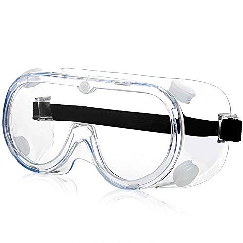Gafas Protectoras,Gafas Proteccion,Gafas de Seguridad Lentes Livianos de Visión Amplia, Lentes Transparentes Protección Ocular Ajustable para Laboratorio de Construcción Splash Home Lawn (1pcs)