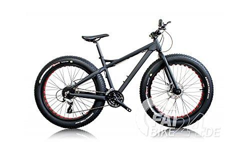 BH BIKES Big Foot Fat Bike Mounter Bike MTB con pneumatici Kenda da 4 pollici in alluminio e freni a disco idraulici, modello 2016 (nero giallo)