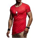 XDJSD Camiseta Camiseta De Cuello Redondo para Hombre Camiseta De Manga Corta para Hombre Camiseta Informal Plisada De Color Sólido Camiseta De Cuello Redondo para Hombre De Manga Corta