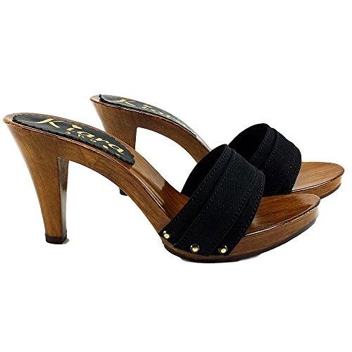 Kiara Shoes Zoccolo Nero - K6101 Nero (37)