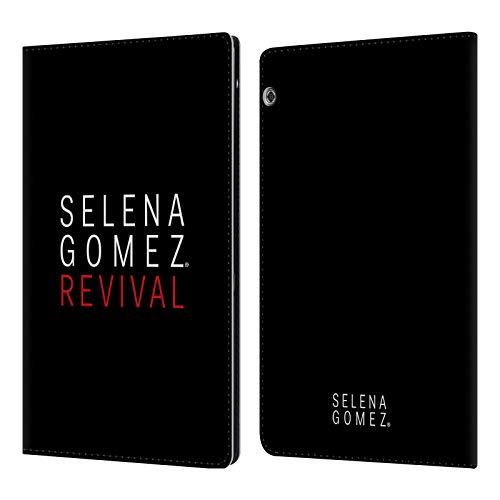 Head Case Designs Offizielle Selena Gomez Tour Logo Revival Art Leder Brieftaschen Huelle kompatibel mit Huawei MediaPad T5
