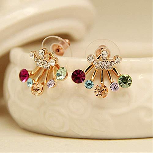 Pendientes Pendientes de cristal de vacaciones para mujer Pendientes de perlas para mujer Pendientes de perlas de flor de perla Mujere0108