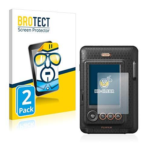 BROTECT Schutzfolie kompatibel mit Fujifilm Instax Mini LiPlay (2 Stück) klare Displayschutz-Folie