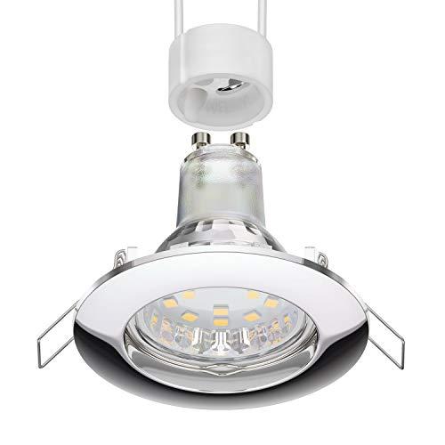 parlat Foco empotrable de techo LED CIRC cromado GU10 Lámpara LED 200lm 110° blanca