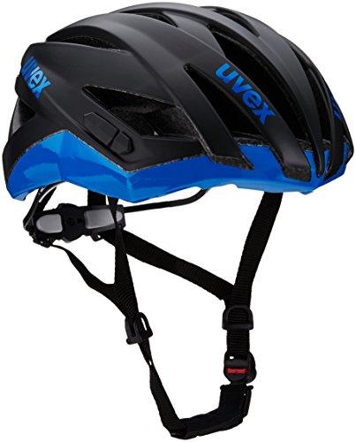 Uvex Fahrradhelm Ultrasonic Race, Black Mat-Blue, 52-56