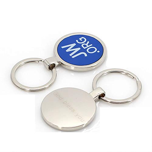Jw.org Metal Ring Key Chain Holder with Circular Clip Logo Design Attached in Gift Box (2 Per Box)