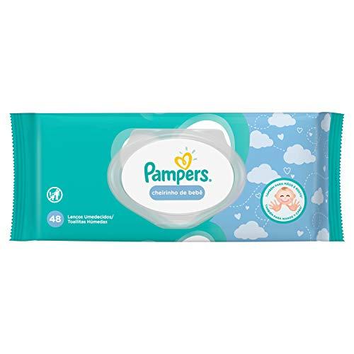 Lenços Umedecidos Pampers Cheirinho de Bebê 48 Unidades, Pampers
