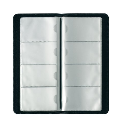 Herlitz - Tarjetero para 128 tarjetas, color negro
