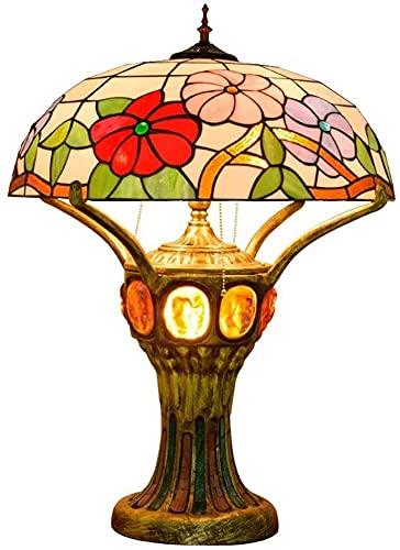 SDHouse Lámpara Escritorio Lámpara de Mesa Petunia de Gama Alta Sala de Estar Dormitorio Barra de Bar recepción recepción salón decoración lámpara de Mesa Conocimiento Antiguo lámpara esmaltada