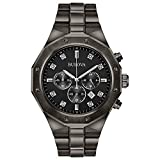 Bulova Men's Analog-Quartz Watch with Stainless-Steel Strap, Grey, 24 (Model: 98D142)