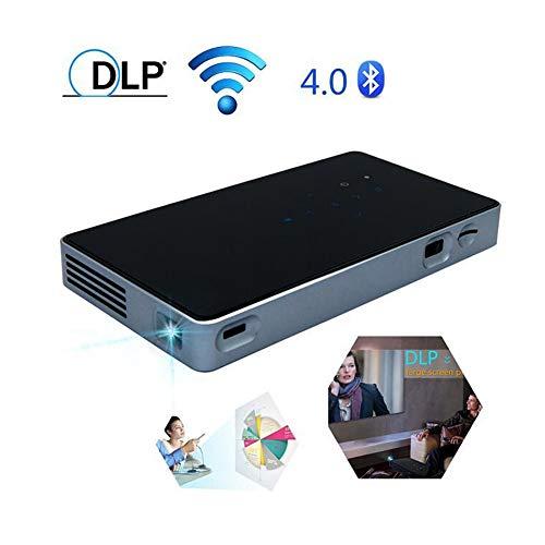 Mini Draagbare Projector 1080P Ondersteunde HD DLP LED Oplaadbare Projector Met HDMI, USB, TF En Micro SD Ondersteunt Iphone Android