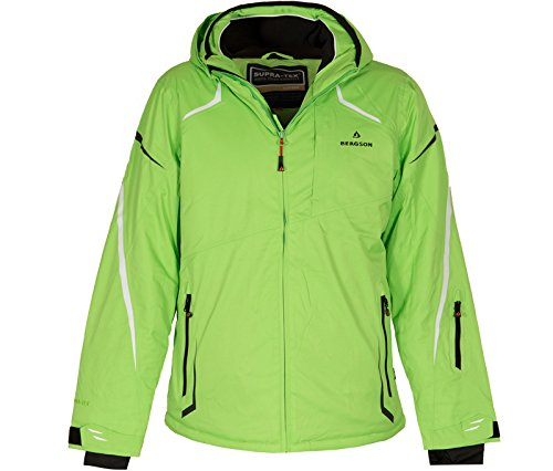 Bergson Herren Skijacke District, Green Flash [209], 52 - Herren