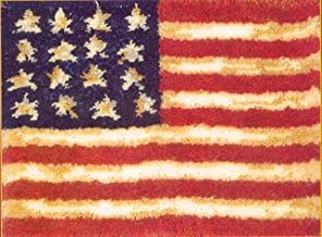 MCG Textiles 37703 American Flag Latch Hook Rug Kit, 20 by 27-Inch