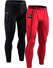 (テスラ)TESLA コンプレッションパンツ スポーツ パンツ メンズ タイツ [UVカット・吸汗速乾] コンプレッションウェア ランニングウェア スポーツ ロングパンツ