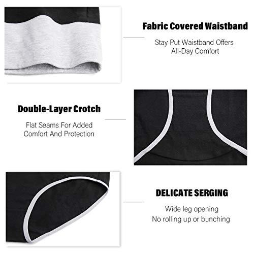cassney Womens Underwear,High Waist C Section Cotton Panties,Soft Hipster Briefs 5 Pack (Black-5 Pack, Medium)