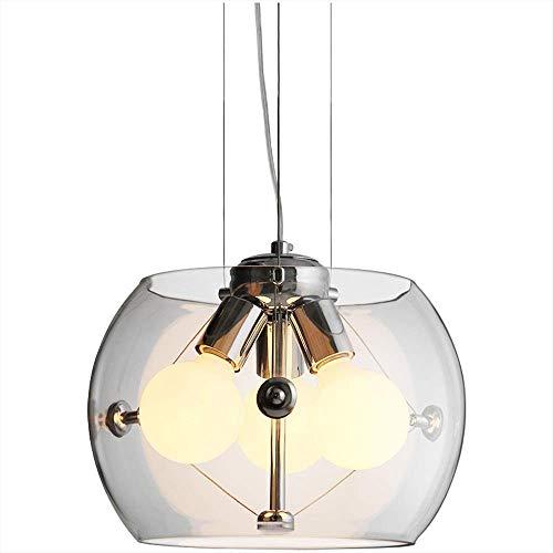 LHTTCZZB. E27 personalità del metallo ferro della famiglia cucina decorativo luce del pendente americano semplice moderna a 3 luci in vetro Ristorante Chandelier Camera Bar Cafe Hotel di illuminazion