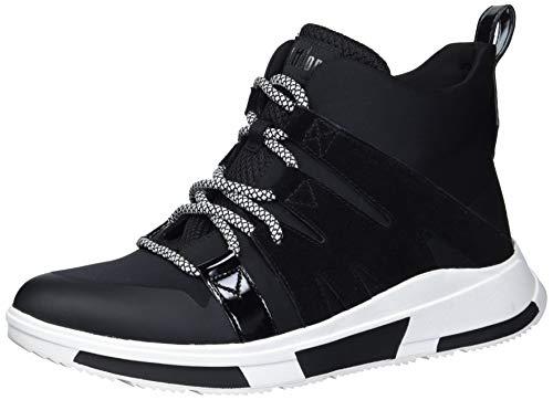 FitFlop Women's Sneakers Walking Shoe, Black, 8.5