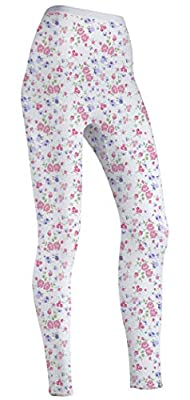 Indera 100% Cotton Thermal Pants, Floral, Small from Indera