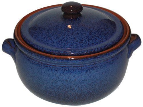 Amazing Cookware - Casseruola per stufati in Terracotta da 1,5 Litri, Colore: Blu