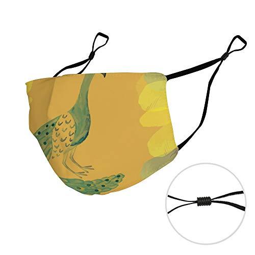 Stof Masker met Filter Element Klassieke Pauw Beroemde Pauw Schilderijen DM20200317AIM003C kleur11 1 STKS