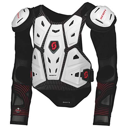Scott Commander 2 MX Motocross DH Protektorenjacke weiß/schwarz 2019: Größe: L
