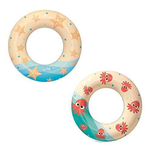 BESTWAY 36014 Swim Ring 61 cm, Schwimmring, Multicolor