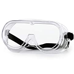 【Anti Fog Lens】NASUM protective safety glasses are made of clear, highly transparent, wear-resistant PC material. Transparent lenses with anti-fog coating technology can protect the eyes of adults and maintain a clear field of vision from the externa...